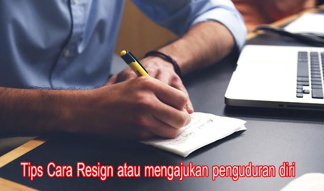 cara resign