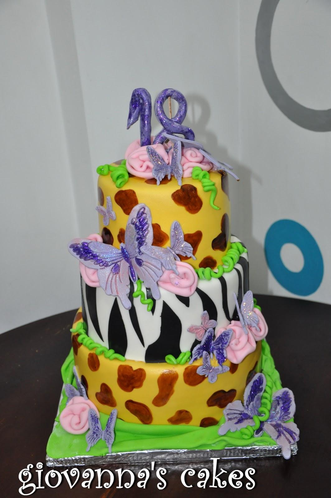 Giovannas Cakes 18 Years Old Birthday Cake