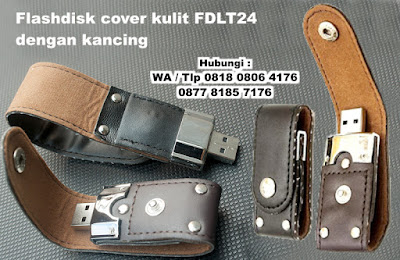 Flashdisk Kulit Police FDLT24, USB Flashdisk Kulit Klip, USB FLASH DISK LEATHER CLIP, USB Flashdisk Kulit Bentuk Clip, Usb Kulit Vintage Kancing, USB Leather Clip