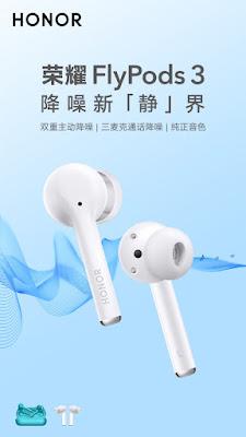 Honor FlyPods 3 Gerçek Kablosuz Kulaklık yakında Çin'de piyasaya sürülecek