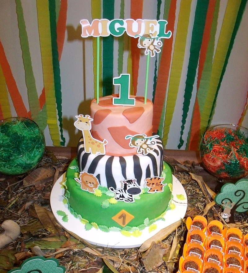 A Jungle Themed 1st Birthday Party from Brazil Party Ideas
