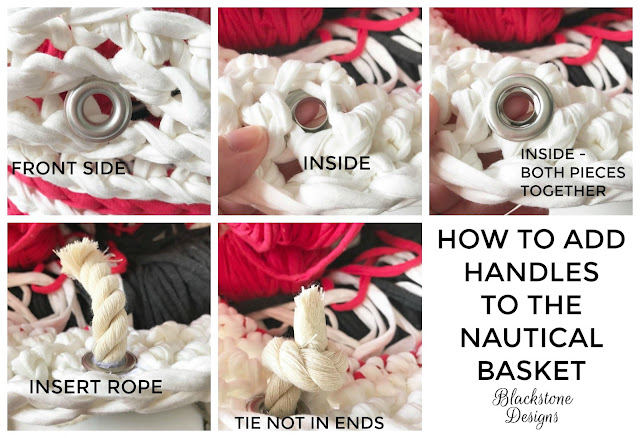 Tutorial for the Nautical Basket Crochet Pattern from Blackstone Designs