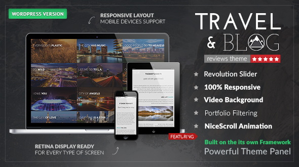Responsive Travel Blog WordPress Theme