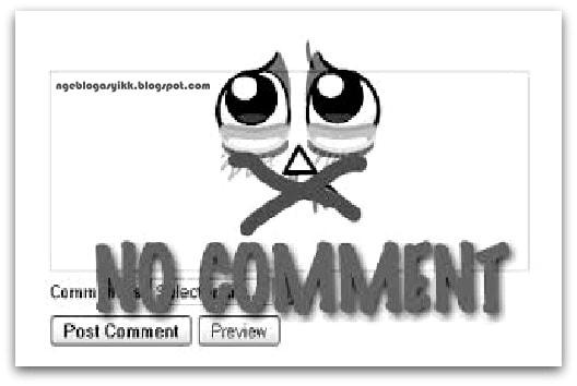 alasan kolom komentar Blog dihapus atau dihilangkan