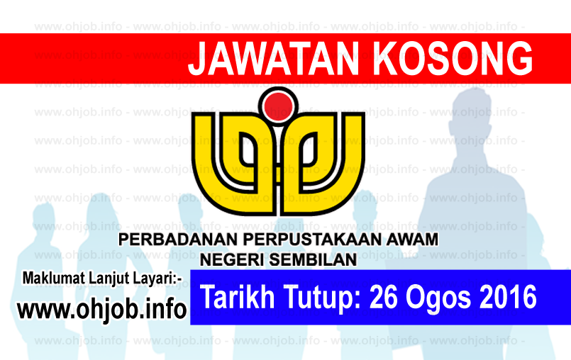 Jawatan Kerja Kosong Perbadanan Perpustakaan Awam Negeri Sembilan logo www.ohjob.info ogos 2016