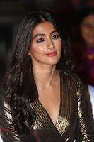 Pooja Hegde looks glamarous in deep neck sleevless short tight golden gown at Duvvada Jagannadham thank you meet function 065.JPG