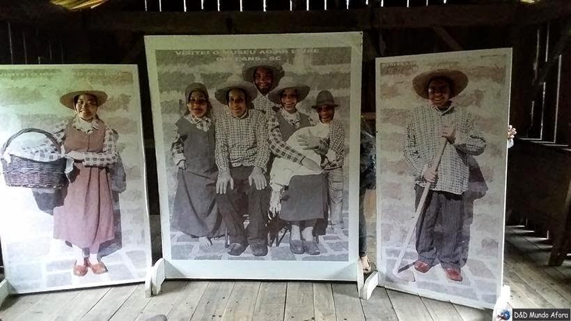 Família de Colonos italianos - O que fazer em Orleans - Museu ao Ar Livre