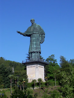 The colossal statue of Charles Borromeo in his home town of Arona on Lake Maggiore