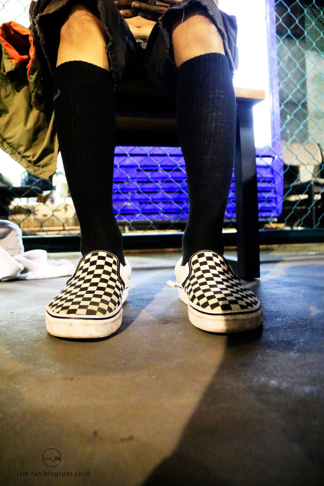 058509950fa Dayu on feet   Sneakers   Vans slip on classic checkerboard. Photo by   iam .ran 06