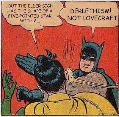 Meme de humor sobre Derleth y Lovecraft