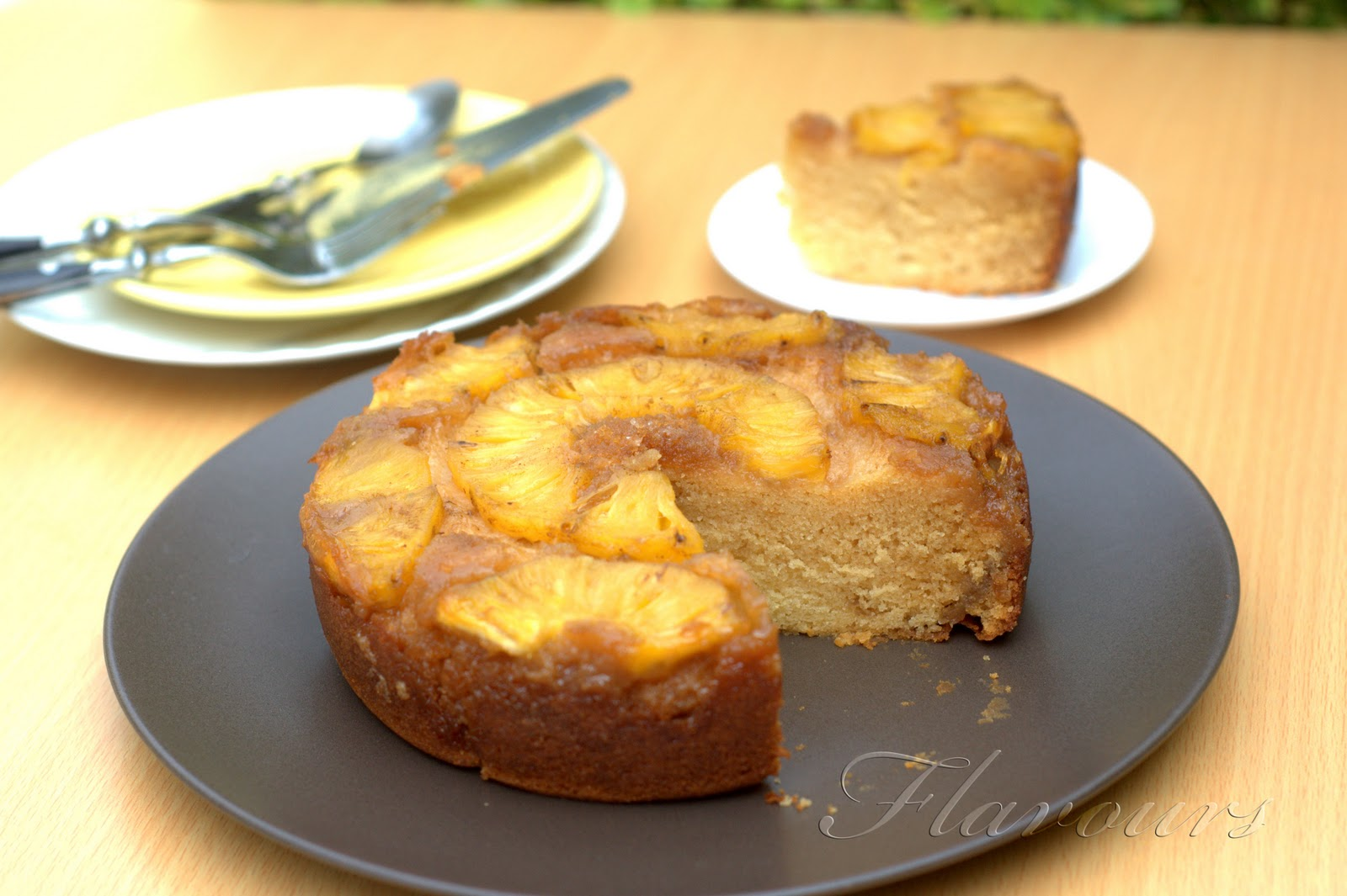 Eggless Pineapple Upside Down Cake With Condensed Milk