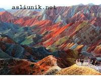 Gunung Pelangi Yang Menakjubkan di China
