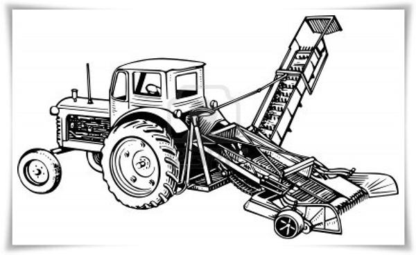 Ausmalbilder Traktor