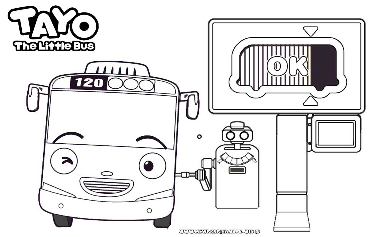 Tayo Bus Coloring Pages Murderthestout