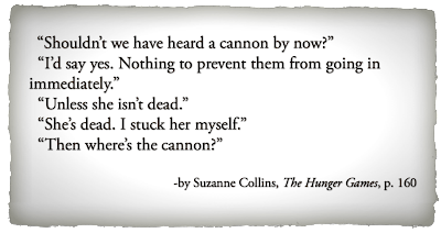 The Hunger Games Quote page 160