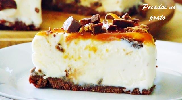 Cheesecake de chocolate Mars a sobremesa perfeita