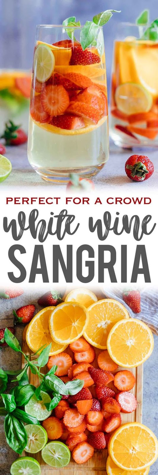 Strawberry Orange White Wine Sangria