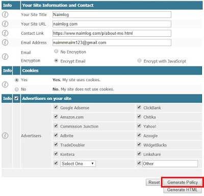 Cara Membuat Halaman Privacy Policy, Disclaimer Dan About Me di Blog