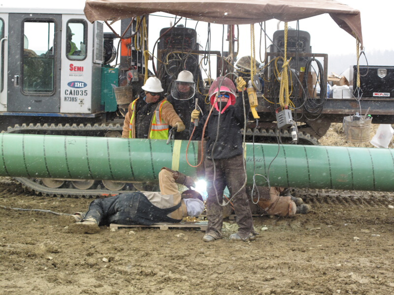 vintage pipeline welding pictures | Old Pipe Install ...