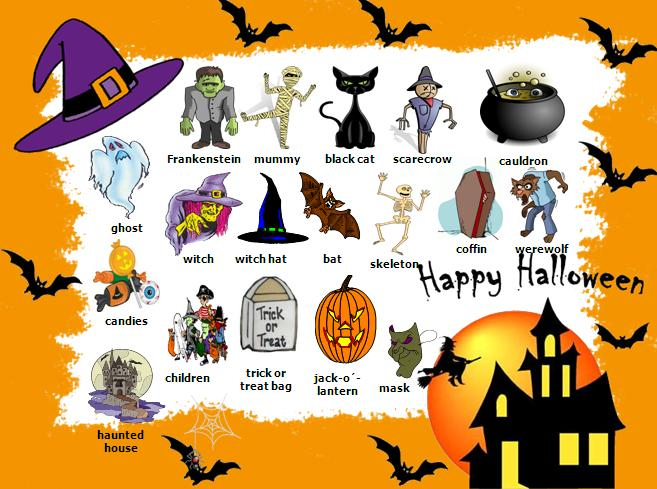 English All The Time Halloween Vocabulary