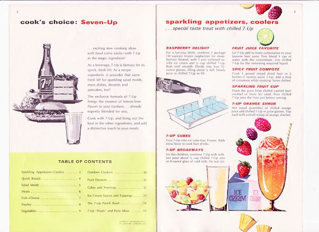 Inside 7up booklet from 1965 on The Cedar Chest blog