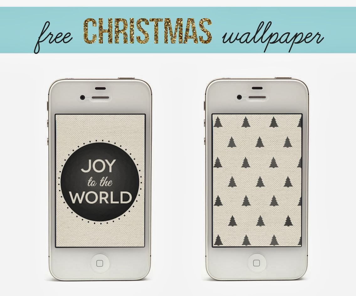 Free Black and White Christmas iPhone Wallpaper - Lines Across