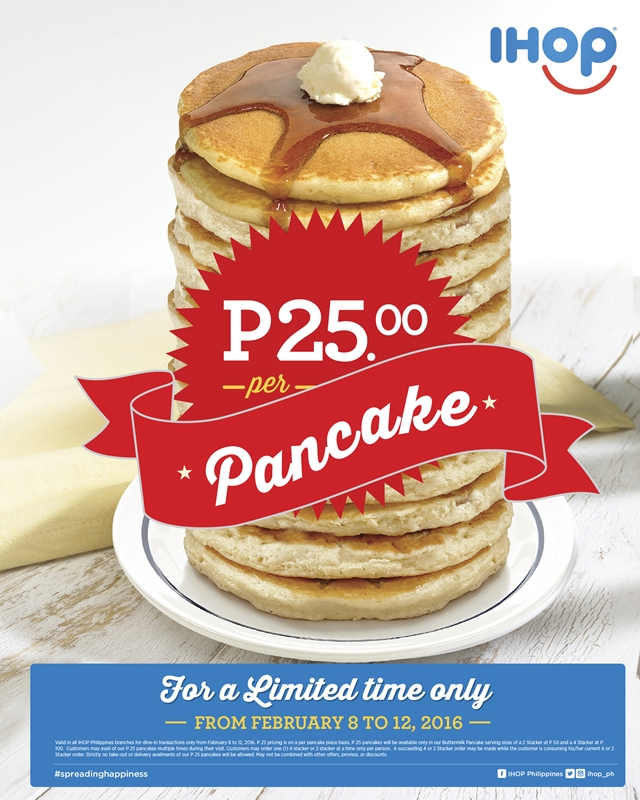 IHOP Philippines Red Velvet Pancake Combo and Php25 Pancake Promo, IHOP Valentines Promo, Blog Review Branches Menu Contact No Address Facebook Instagram Twitter YedyLicious Manila Food Blog