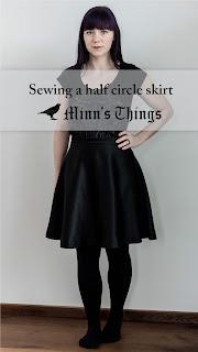 half circle skirt sewing Minn's Things calculator self drafted handmade diy free pinterest