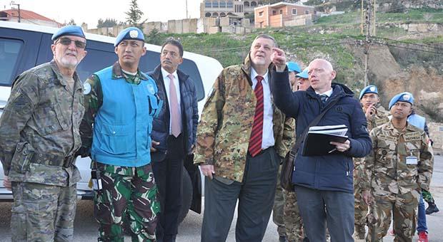 PBB Tinjau Area Operasi Pasukan Garuda di Perbatasan Lebanon-Israel