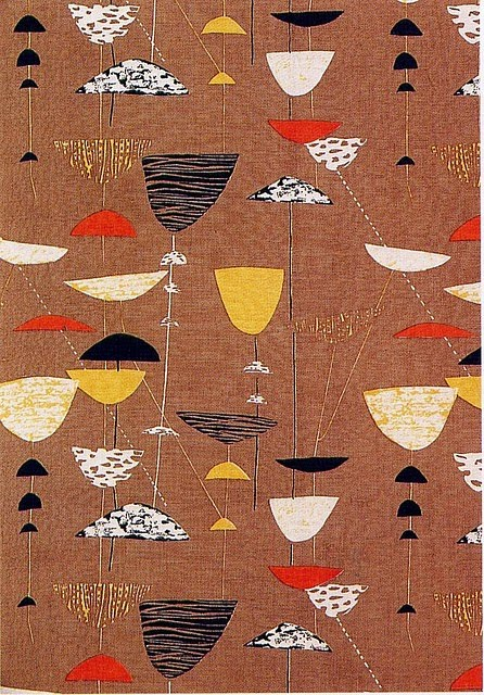 Many Nice Things 1950s Fabric Design