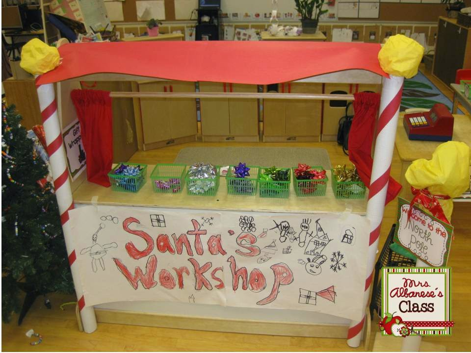 Mrs Albaneses Kindergarten Class Santas Workshop At