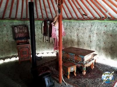 Interior de la Yurta tártara