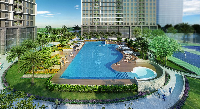 Tiện ích bể bơi dự án chung cư Mỹ Đình Pearl Nam Thăng Long