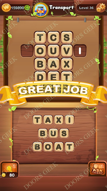 Word Bright Level 36 Answers, Cheats, Solutions, Walkthrough for android, iphone, ipad and ipod