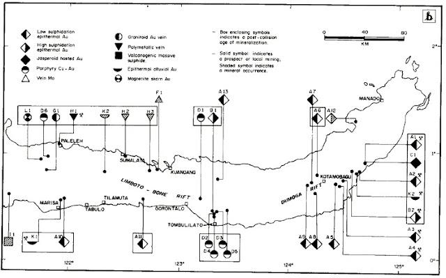 Peta Mineralisasi Emas Lengan Utara Sulawesi