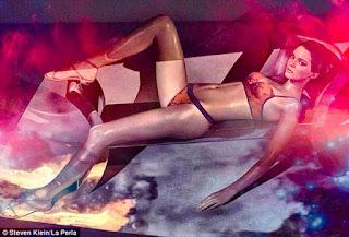 Kendall Jenner smoulders for the La Perla Spring Summer Latest Campaign