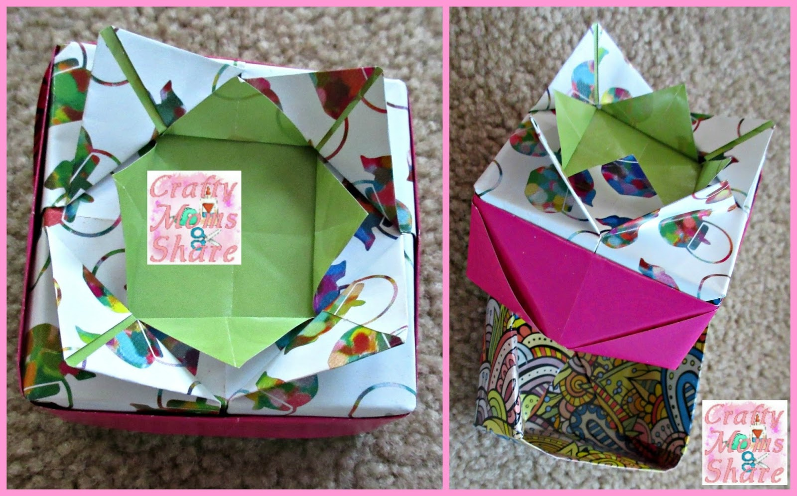 Crafty Moms Share Origami Fun A Weekends Review Link Party Mouse Diagram Embroidery The Instructions In This Kit Are Relatively Easy To Follow Beginning Of Book There Couple Practice Projects Understand