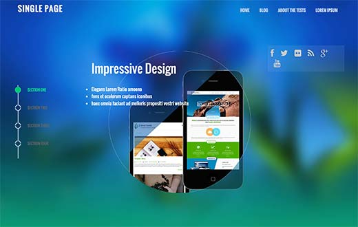 SinglePage WP Theme