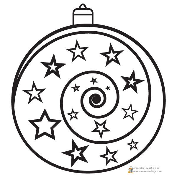 Bola de navidad con forma de espiral para imprimir, pintar