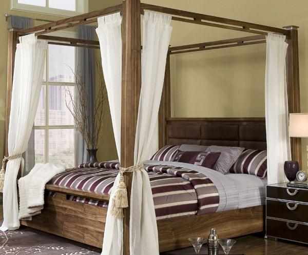 Tempat Tidur Dengan Kanopi Yang Anggun Dan Romantis