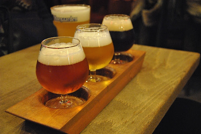 Belgisches Bier im Au Brasseur in Brüssel