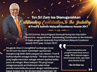 Tan Sri Zam Isa Honoured with 'Outstanding Contribution to the Industry' at Frost & Sullivan Malaysia Excellence Awards 2017