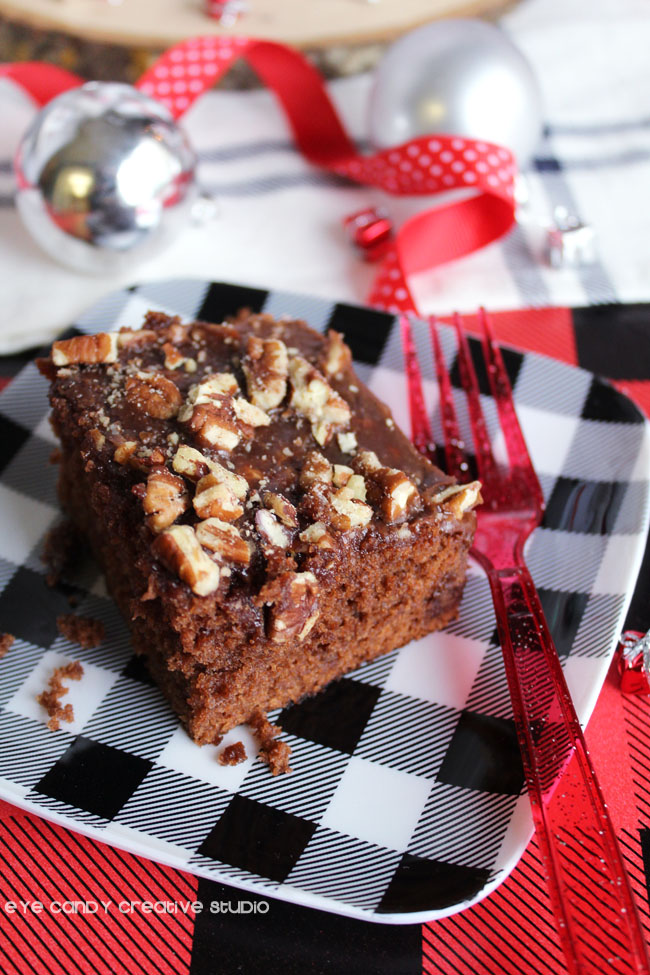 share holiday joy, slice of coca cola cake, recipe for coca cola cake