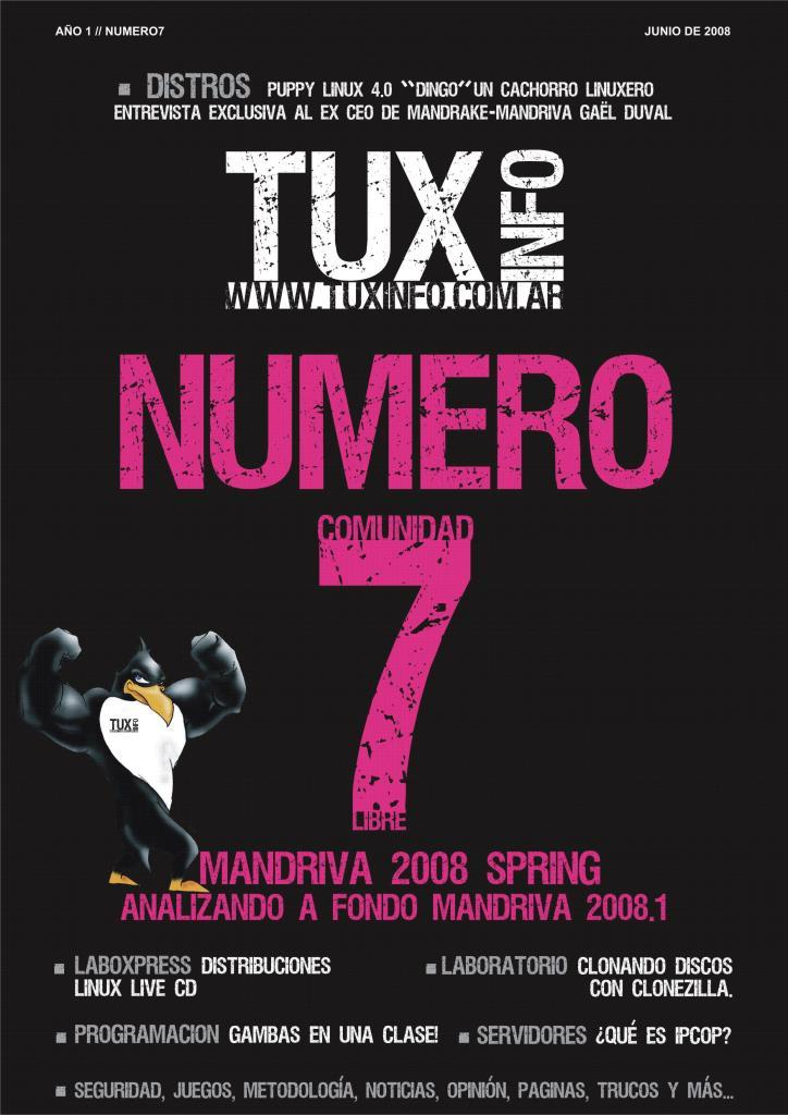 TuxInfo Nro. 7 – Mandriva 2008 spring
