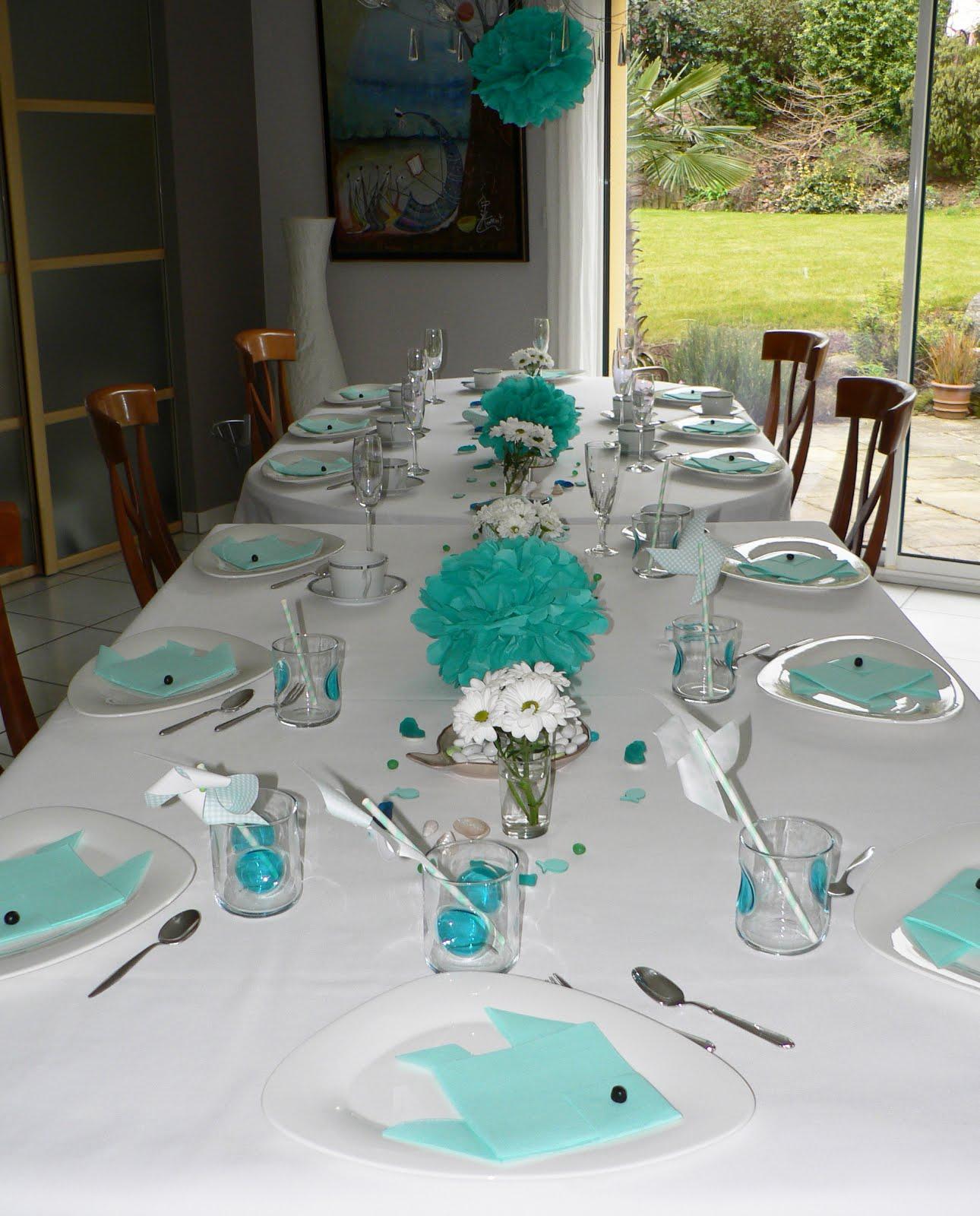 d co de table vert mint turquoise sur le th me marin k zako d co. Black Bedroom Furniture Sets. Home Design Ideas
