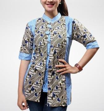Model Blus Batik Wanita Cantik Dan Mewah