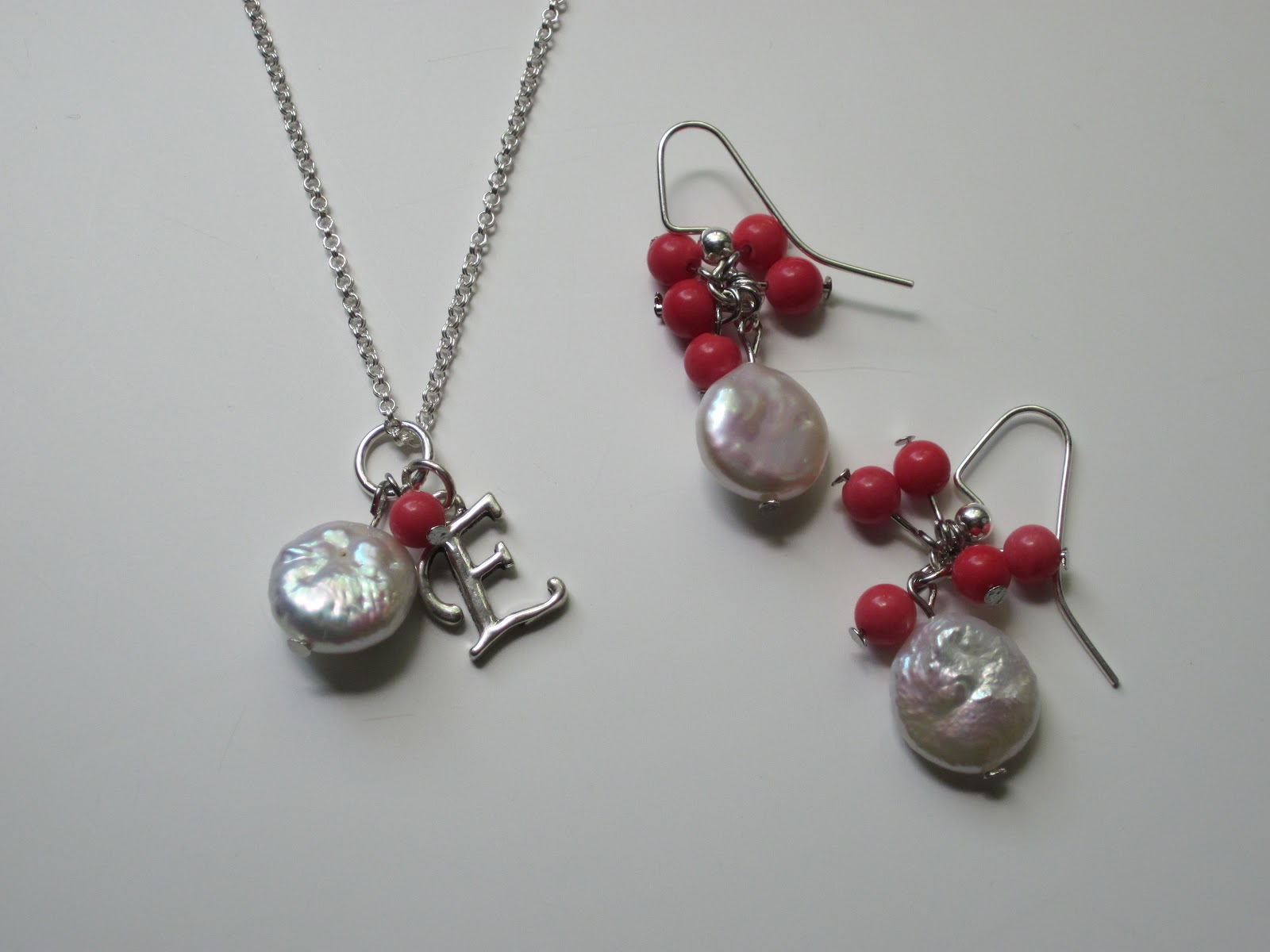BonnieProjects: Coral Bridesmaid Jewelry Sets