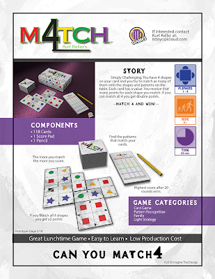 Sell Sheet for Match 4 Game by Kurt Keller at ITD Games