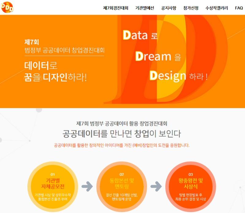 제5회 공공데이터 활용 창업·분석 경진대회 7월 25일 개최