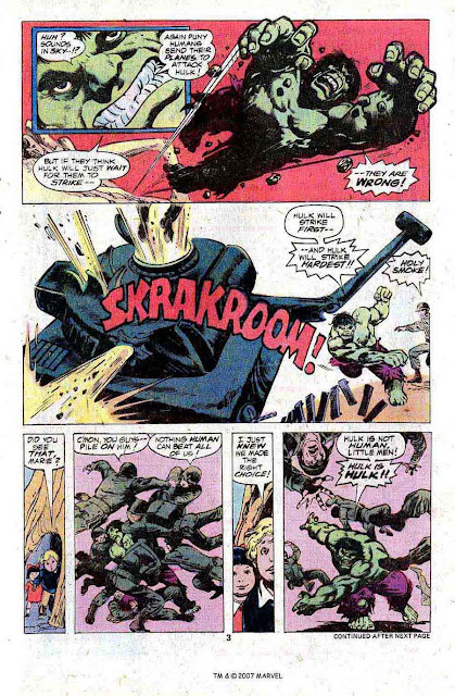 Incredible Hulk v2 #222 marvel comic book page art by Jim Starlin